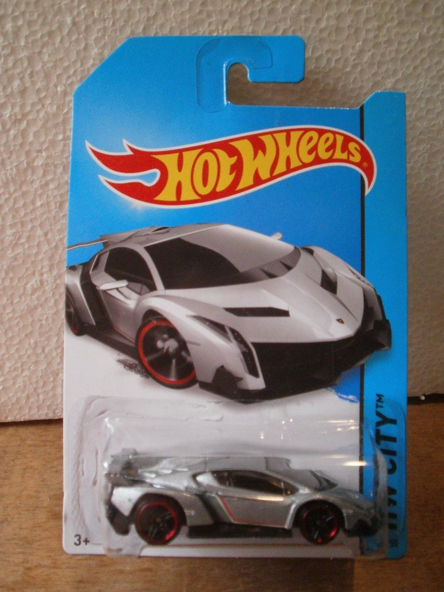 hot wheels lamborghini veneno gris 37 250 2014. Black Bedroom Furniture Sets. Home Design Ideas