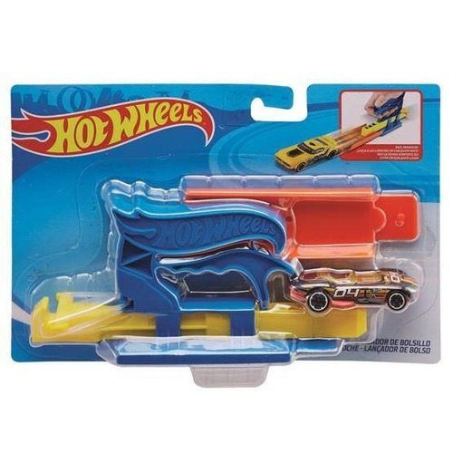 hot wheels lanzador con auto fth84 original mattel