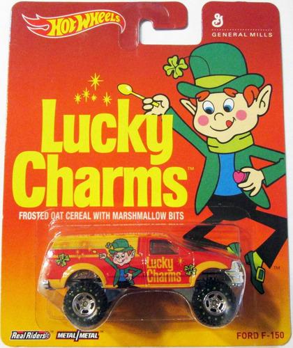 hot wheels - lucky charms - ford f-150 ruedas de goma e/1:64