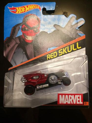 hot wheels marvel red skull