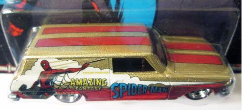 hot wheels marvel spiderman '64 chevy nova delivery r/goma