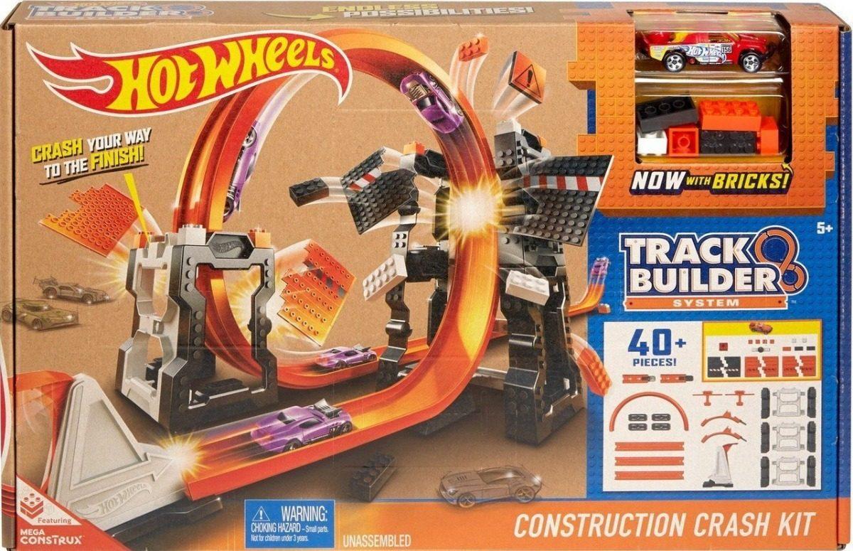 Hot Wheels Mega Construx Kit De Choques Track Builder 510 00 En