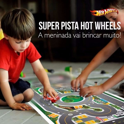 hot wheels mega pista p/ brincar de carrinhos  2x1m
