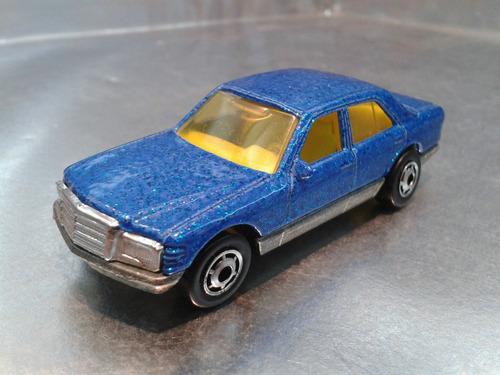 hot wheels - mercedes 380 sel de 1991 azul 01 m.i. malaysia