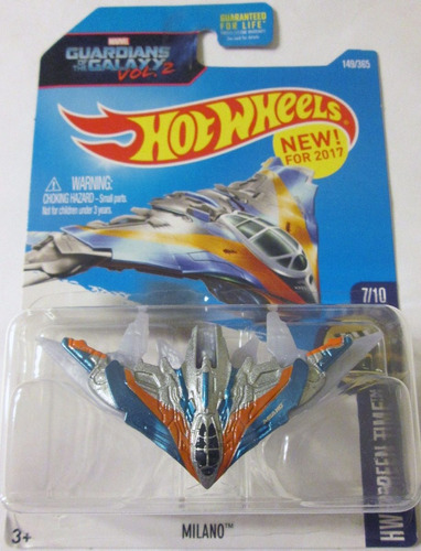 hot wheels milano - guardianes de la galaxia 2, mide 8,5 cm.