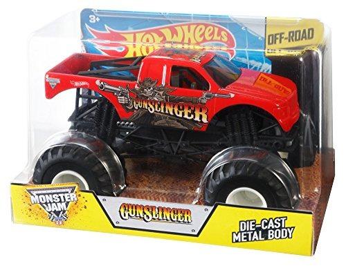 hot wheels monster jam escala 124 gunslinger vehículo