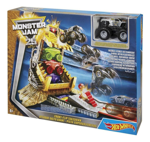 hot wheels - monster jam - front flip take down - play set
