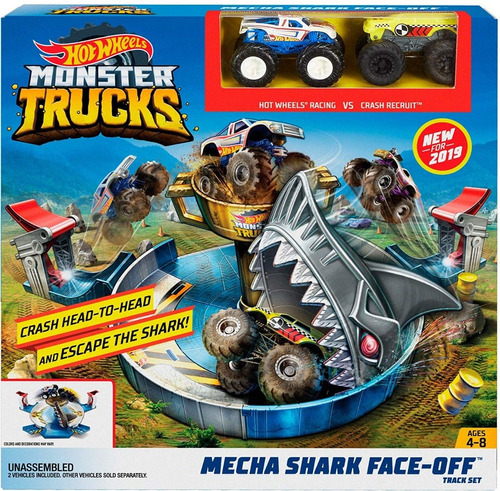 hot wheels monster trucks mecha shark 40green