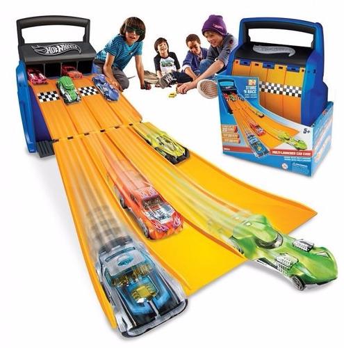 hot wheels multilanzador valija pista autos - fair play toys