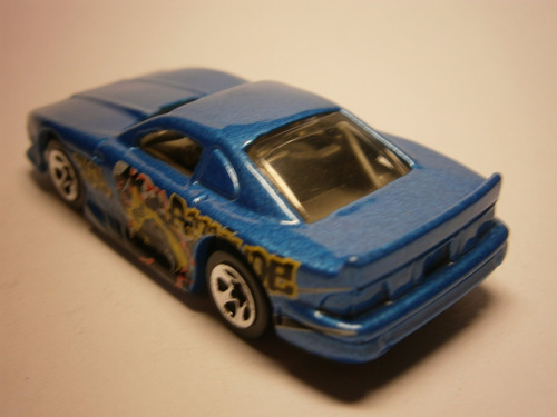 hot wheels mustang cobra (azul)