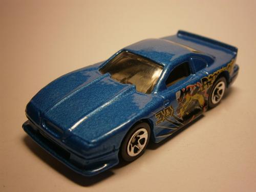 hot wheels mustang cobra (azul)