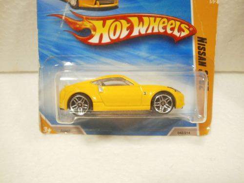 hot wheels nissan 370z amarillo 42/214 2010 tc