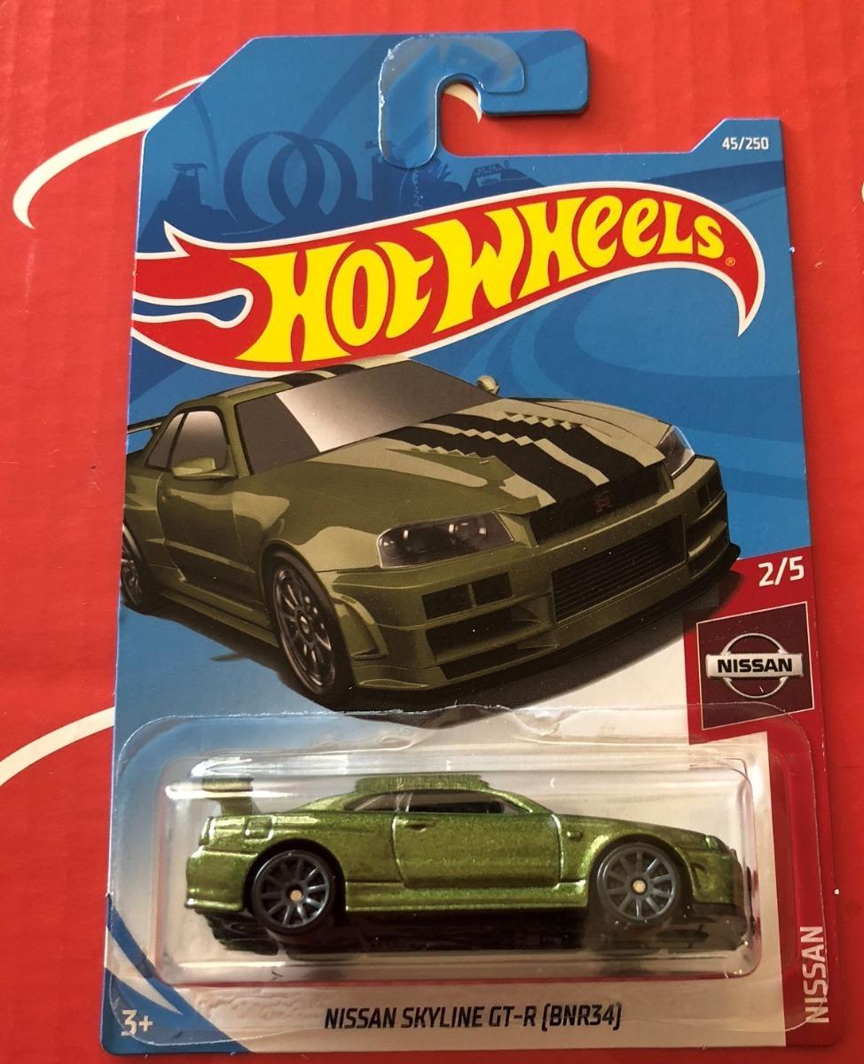 Hot Wheels Nissan Skyline Gt R Bnr34 2 5 Verde 2019 50 00 En