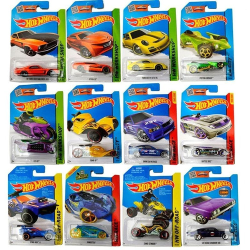 hot wheels pack x10 colección autos surtidos original mattel
