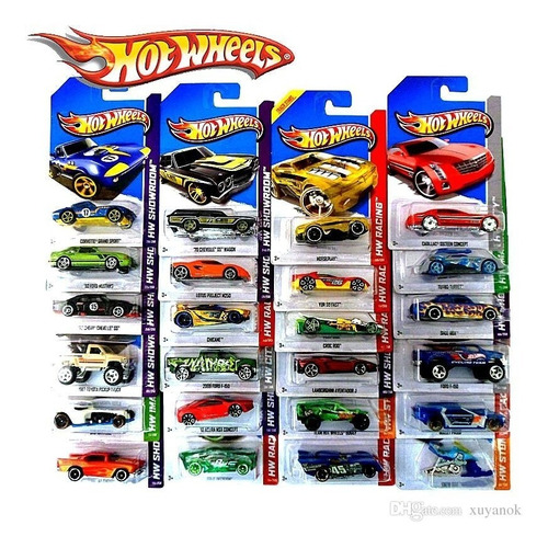 hot wheels pack x20 colección autos surtidos original mattel