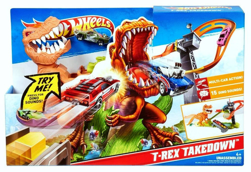 hot wheels pista ataque de tiranosaurio rex - fair play toys