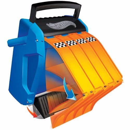 hot wheels pista autos multilanzador valija - fair play toys