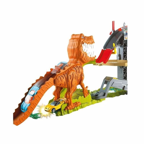 hot wheels pista carros rexx2700 coche dinosaurios mattel *
