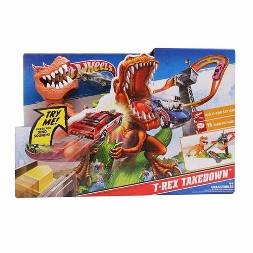 hot wheels pista de carros rex x2700 coche dinosaurio mattel