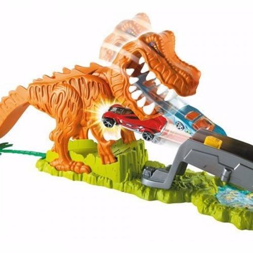 hot wheels pista de carros rexx2700 coche dinosaurios mattel