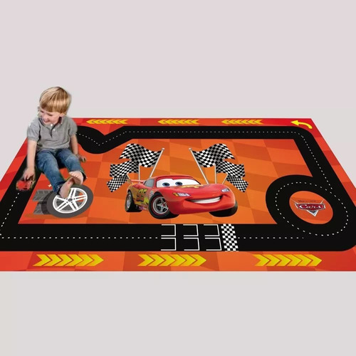 hot wheels pista tapete cars pixar mcqueen 1,70x1,00m