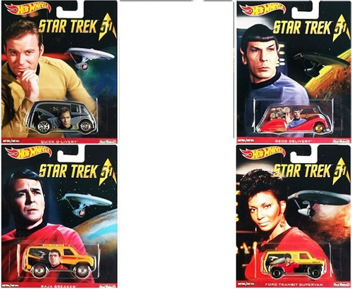 hot wheels pop culture star trek 50th anniversary kit 4