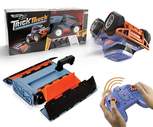 hot wheels r / c trick truck transforming stunt park vehícul