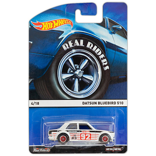 hot wheels - real riders: datsun bluebird 510