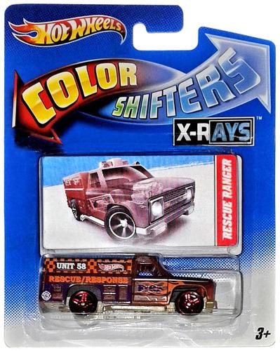 hot wheels rescue ranger camión cambia color shifters mrtoy