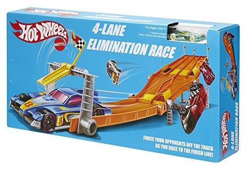 hot wheels retro 4 carriles carrera de eliminación determin