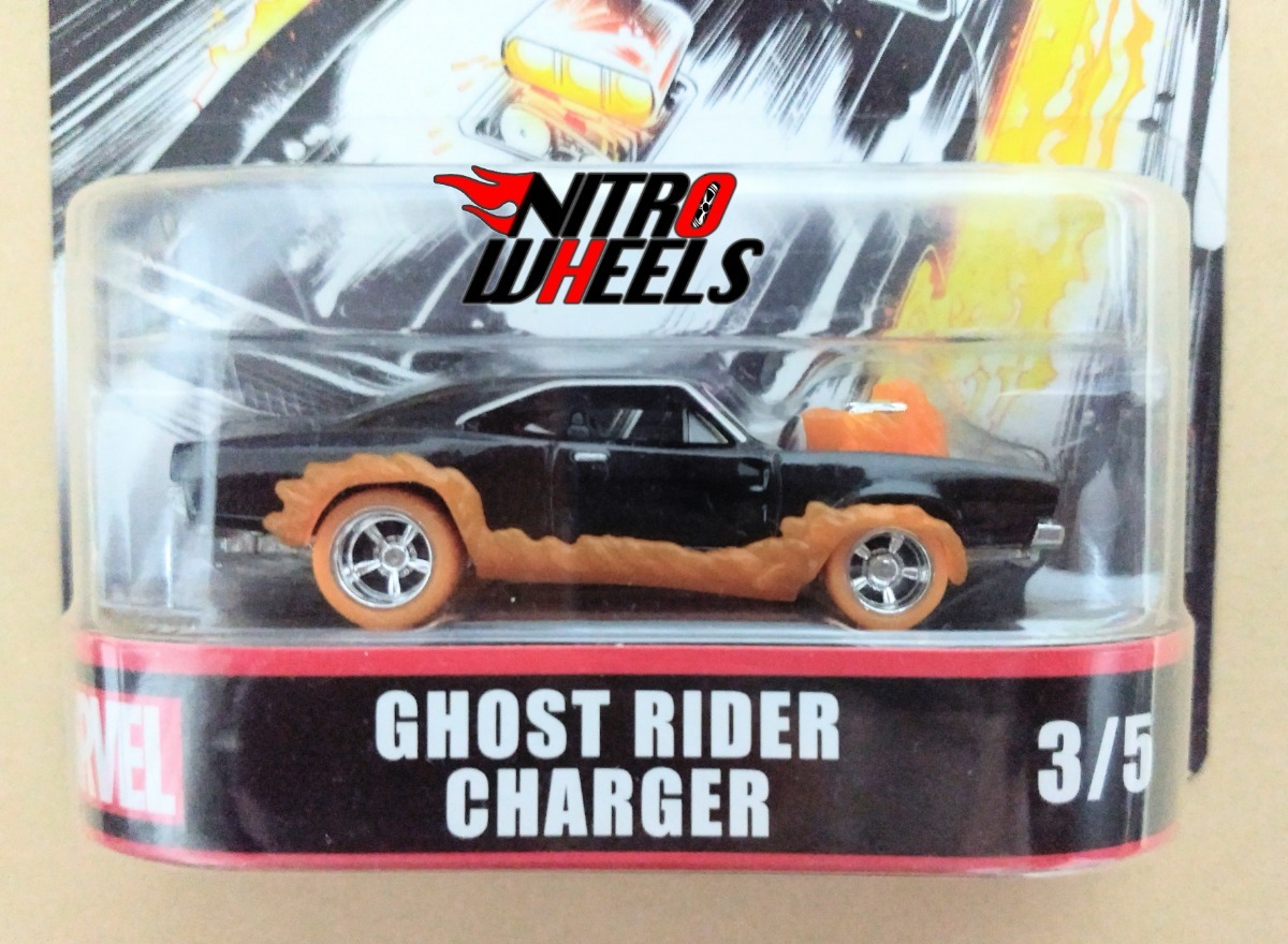 Hot Wheels Ghost Rider Charger DMC55-956H 1//64