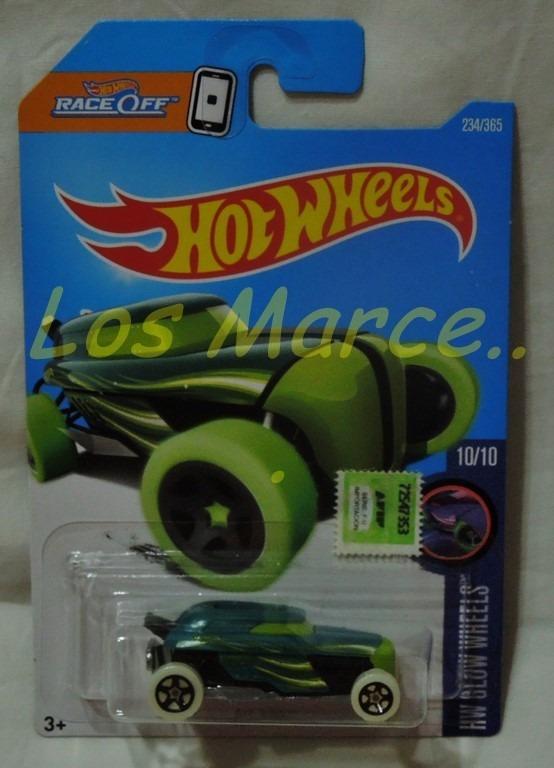 Hot Wheels Rip Rod Coleccion Glow Wheels Race Off 165 00 En