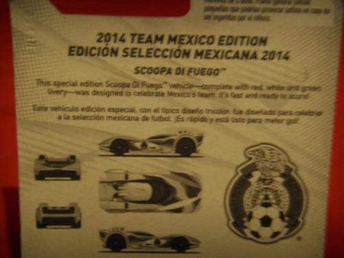 hot wheels scoopa di fuego seleccion mexicana de futbol 2014