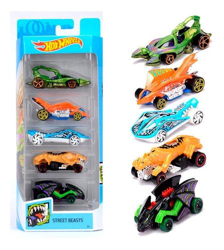 hot wheels set 5 autitos surtidos  flames speedblur hottruck