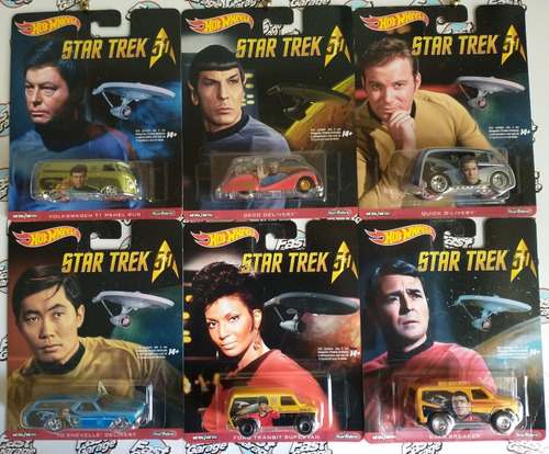 hot wheels set completo star trek