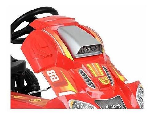 hot wheels speedster go kart, rojo