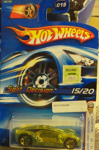 hot wheels split decision 2005 firts edition 15/20