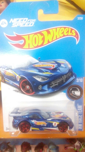 hot wheels srt viper gts-r need ford speed azul