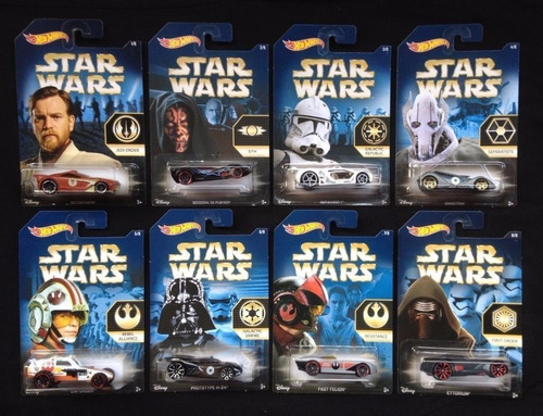 hot wheels star wars 2015 guerra de las galaxias 8 piezas