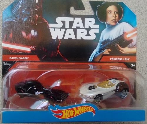 hot wheels star wars darth vader e princess leia