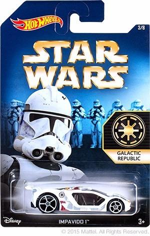 hot wheels star wars impavido clone trooper xb2