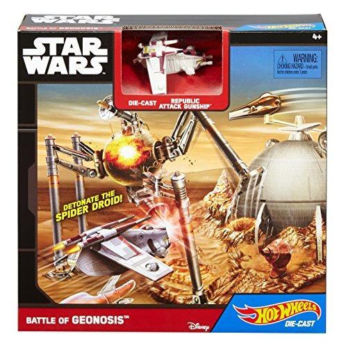 hot wheels star wars starship battle of geonosis juego de ju