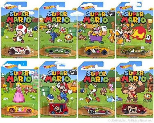 Hot Wheels Super Mario Bros Lote 8 Carros - 1:64