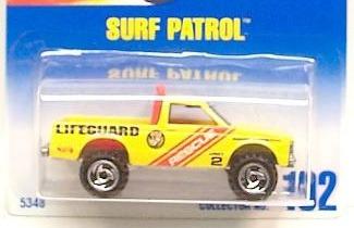 hot wheels surf patrol - 102 de 1995 (lacrado)