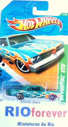 hot wheels t-hunt 2011 ´64 pontiac gto não super não beetle