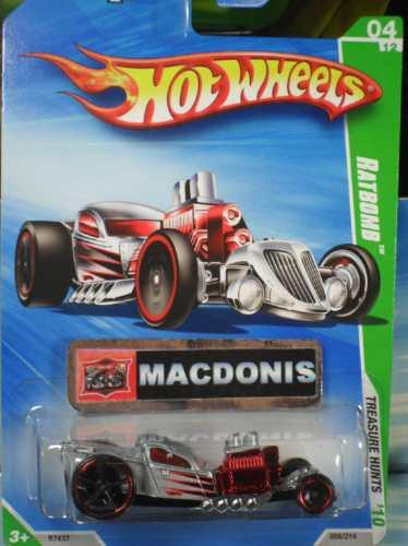 hot wheels t-hunt ratbomb espetacular 56/2010 lacrado !
