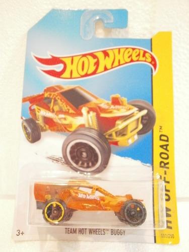 hot wheels team hot wheels buggy naranja 111/250 2014