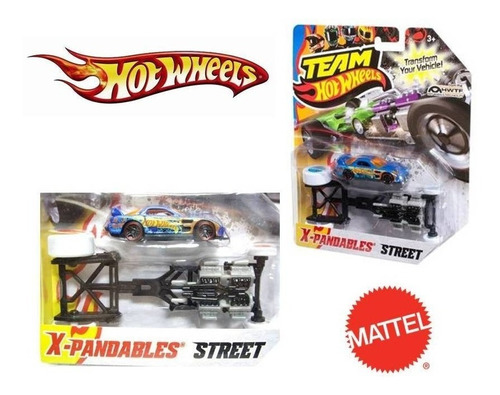 hot wheels team - x-pandables rua - mattel