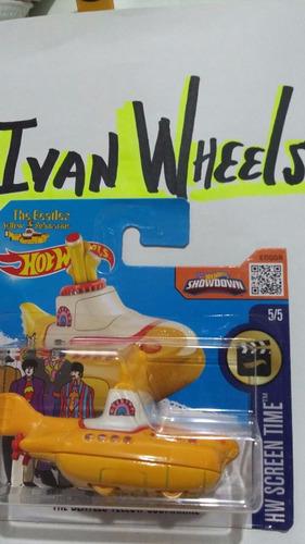 hot wheels- the beatles yellow submarine tarjeta corta unico