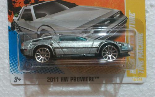 hot wheels time machine  delorean regreso al futuro